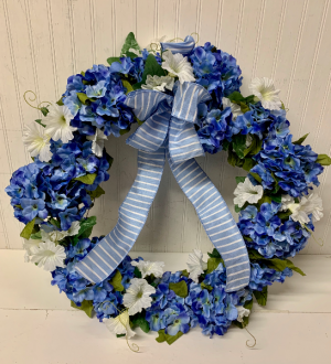 Artificial Hydrangea Wreath  in Easton, MD | ROBINS NEST FLORAL AND GARDEN CENTER