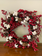 "Artificial indoor or outdoor 24"" wreath"