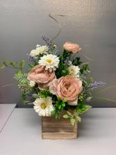 Artificial...not real sweet box of flowers  Silk Arrangement