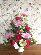 Artificial Pink Flowers Silk Arrangement