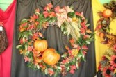 Artificial Pumpkin Wreath