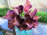 artificial purple mini Calla bouquet