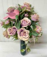 Artificial Rose Cemetery Cone