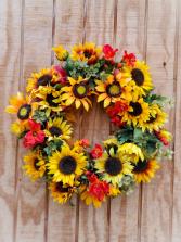 Artificial Sunflower Wreath