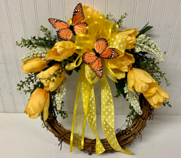 Artificial Tulip Wreath
