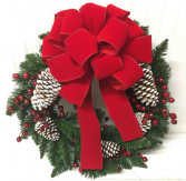Artificial Wreath with Pine Cones