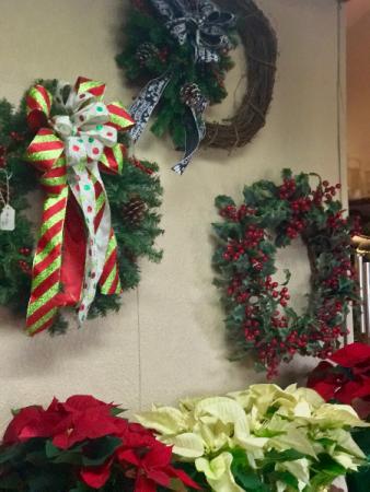 artificial wreaths Christmas