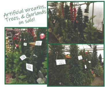 Artificial Wreaths, Trees & Garlands are 50% off