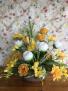 Awaken Yellow silk Flower Arrangement