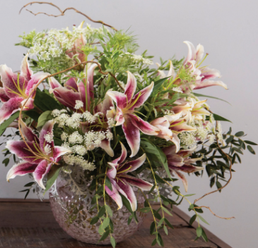 Artisan Bouquet All around, glass bowl or cube