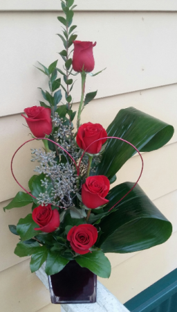 Artisan Love Buds Half Dozen Roses in Phenix City, AL | BUDS & BLOOMS FLORIST