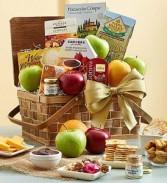 Artisan Medley Gift Basket Fresh Fruit and Gourmet