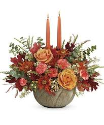 Artisanal Autumn Centerpiece Fall Arrangement