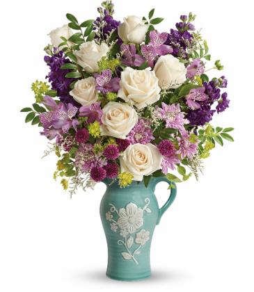 Artisanal Beauty  Food-safe Pitcher Bouquet