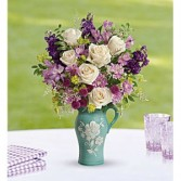 Artisanal Beauty Keepsake Pitcher Arrangement