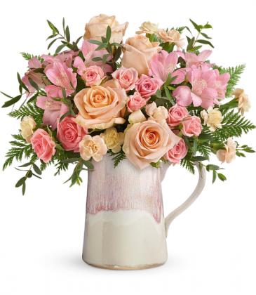 Artisanal Blush Bouquet All-Around Floral Arrangement