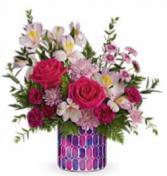 Artisanal bouquet Keepsake cylinder vase