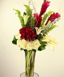 Artistry in Red, White & Green  Arrangement