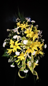 As bright as spring easel arrangement