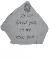 As We Loved Memory Stone