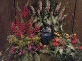 Ashes to Ashes  Cremation urn  arrangment