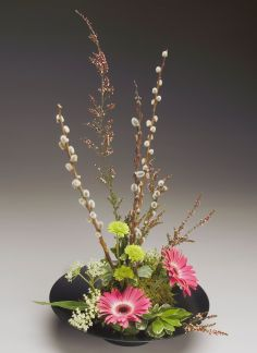 Asian Elegance Ikebana Style Arrangement In Ithaca Ny