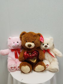 Assorted bears You can order the bears online with your order. Just go to the gift section or give us a call