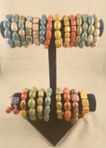 Assorted Clay Bracelets and Matching Earrings