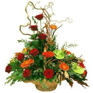 Assorted Flowers in basket everyday