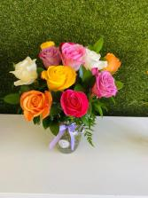 Assorted Fresh Roses