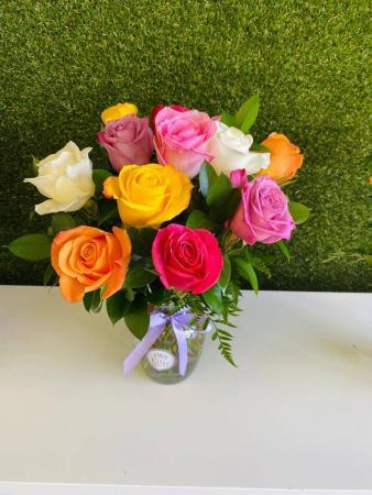 Assorted Fresh Roses