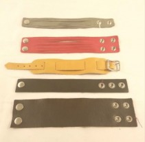 Assorted Wms Leather Strap Bracelets & Watchbands
