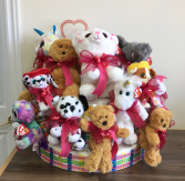 Assorted plush with valentine ribbon Giftware