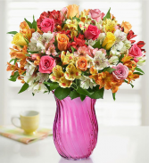 Assorted Roses & Peruvian Lily Bouquet for Mom