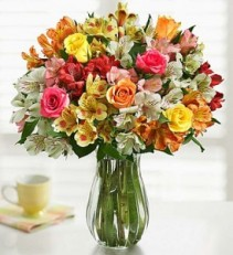 ROSES & PERUVIAN LILY