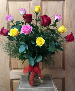 Assorted Roses T&V Original in Appleton, WI | TWIGS & VINES FLORAL