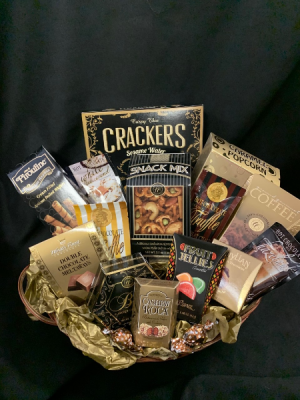 Assorted Sweet and Savoury Gourmet Basket in Red Lake, ON | FOREVER GREEN GIFT BOUTIQUE