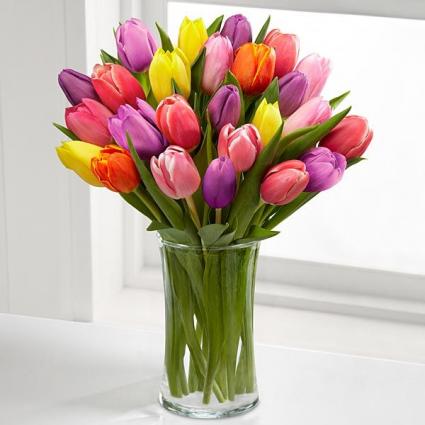 30 Assorted Tulip Bouquet