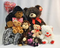 Assorted Valentine's Day Gifts Gourmet Chocolates, Plush, and Balloons