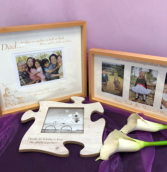 Assorted wood frames Personalized engraved gifts