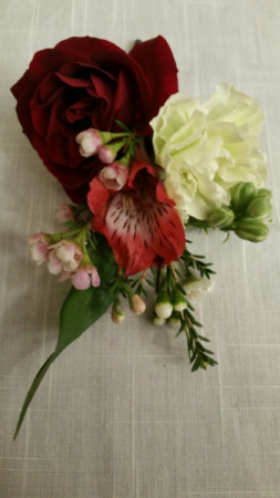 Astro Rose Carnation Boutonniere