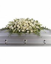 At Peace Casket Spray Casket Flowers
