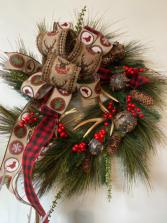 At the lodge wreath  Christmas wreath
