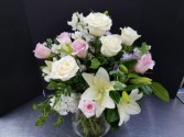 Athas 64 Roses, lilies and stock flowers
