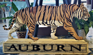 AU Wooden Tiger Gift Item in Auburn, AL | AUBURN FLOWERS & GIFTS