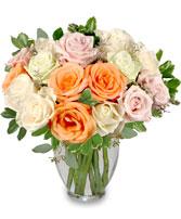 Alabaster Roses Arrangement