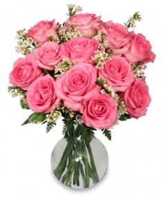 Chantilly Pink Roses Arrangement