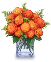 Fiery Love Bouquet of 'Circus' Roses