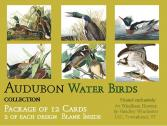 Audubon Card Set Water Birds Package of 12 Cards