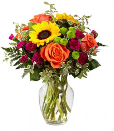 Fall  Blooms Vase